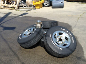 """FOUR DODGE RAM WHEELS 16"""" WITH CAPS"""