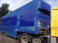 CORUS TRI AXLE DOUBLE DECK BOX TRAILER
