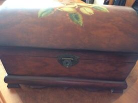 Treasure Chest Wooden Domed Lid