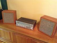 Système de son VIKING SC5812 vintage + boitiers h-parleurs rétro