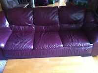 Real Leather Sofa