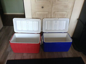 2 Coleman 48qt hinged coolers