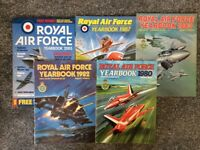 5 RAF yearbooks 1980 - 2005