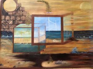 Original Art Surrealism Expressionist Canadian Artist