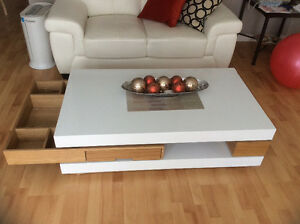 Moving Sale wooden Stylist Coffee Table