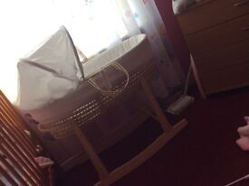 Moses basket and stand open to offers and need gone asap