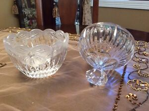 Vint lead crystal candy dish with lid-deeply cut pattern West Island Greater Montréal image 3