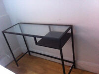Glass table top small desk
