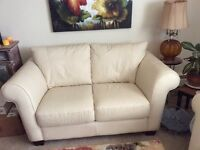 Konto Leather Loveseat and Sofa for Sale