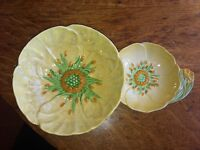 Carltonware, vintage candy dish and butter plate