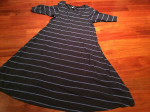 Blue strip maternity dress