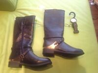 New size 3 black boots