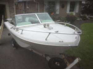 16 Foot Boat and 135HP Motor