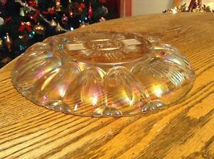 Vintage plateau pour les oeufs. Verre iridescent couleur cristal Gatineau Ottawa / Gatineau Area image 4