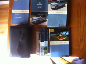 Lexus Leather Owner's Manual Case and Manuals
