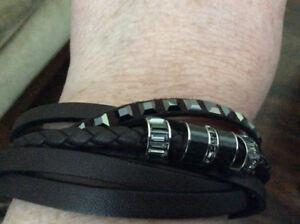 Men's Swarovski Leather Bracelet