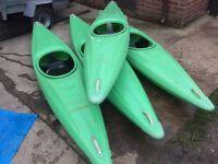 4x junior Kayak canoes dag swim 3