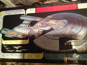 Star Trek - Next Generation USS Enterprise Framed Vintage Poster