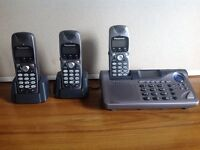Panasonic Trio digital phone system with answerphone