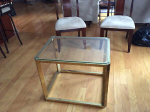brass coffee or end table