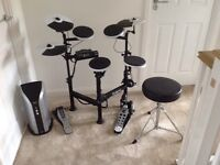 Roland TD-4KP Electronic drum kit and Roland PM-03 Amp