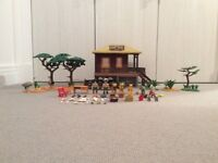 Playmobil safari set with added landscaping