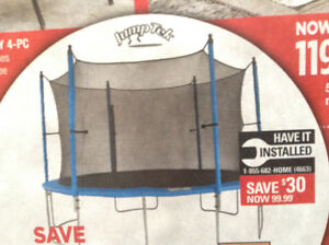 """54"""" trampoline and safety enclosure combo , can deliver"""