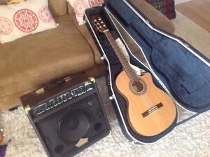 Fender accoustic electric nylon and gator case