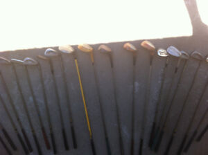 Assorted Golf Clubs With Case!!