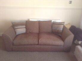 3 seater sofa and oversized armchair