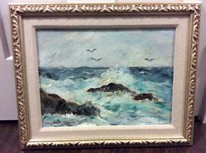 Framed 12x16 oil on board painting by Marjorie Craik 1895-1994