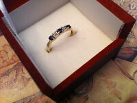With10KT Solid Yellow gold women's ring
