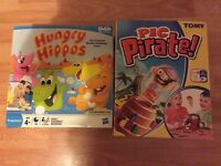 Pop up pirate and hungry hippos