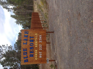 Cabins for rent on beautiful Blue Lake