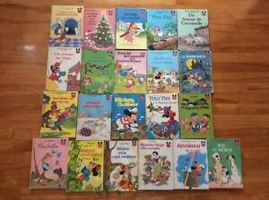 Collection d'anciens livres de Walt Disney