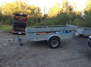 8x4 galvanized utility trailer w/  drive on ramp $1500 o.b.o
