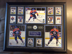 Autographed 24x26 Framed EDM Oilers Picture