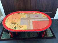 Disney race track and play train table