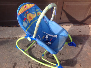 FISHER PRICE ROCKET CHAIR W/ADJUSTABLE POSITION SEAT