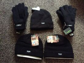 Hats and gloves.
