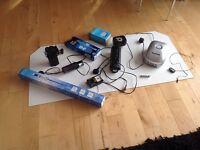 Fish tank accessories , pumps , 8 way air pump , filters , feeders etc