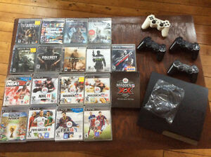 PS3 console and video games