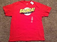 Men's X-Large BAZINGA Tshirt New with tag
