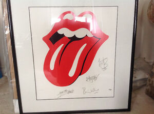 "Rolling Stones Framed ""Lips & Tongue"" Numbered Lithograph Poster Oakville / Halton Region Toronto (GTA) image 1"