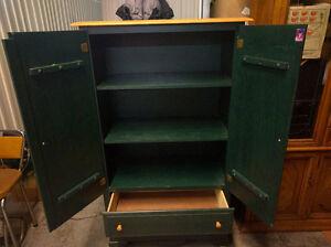 """Wood Dresser Green 60"""" H x 34"""" W X 18"""" D"""