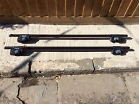 PRICE DROPPED Roof bars and single Thule bike rack