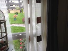 A pair of voile curtains.