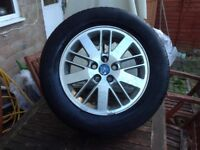"Ford Galaxy 16"" alloy spare wheel with tyre"