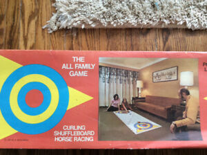 Curling Shuffleboard Horse Racing Board Game