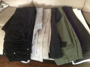 9 pairs of pants NEW or worn slightly
